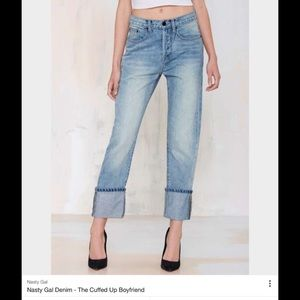 Nasty Gal The cuffed boyfriend jeans.